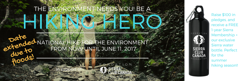 The environment needs you! Be a Hiking Hero!