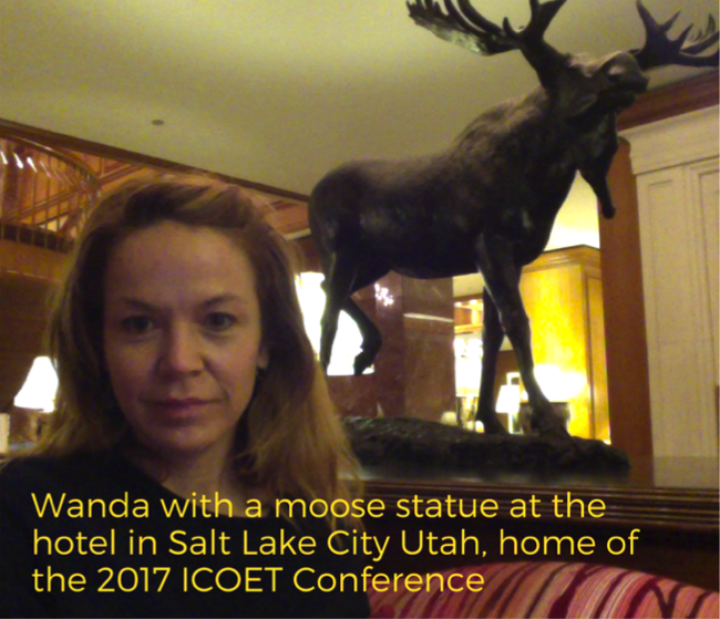 Wanda at the ICOET conference