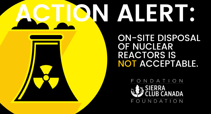 On-site Disposal Of Nuclear Reactors Is  Not Acceptable.