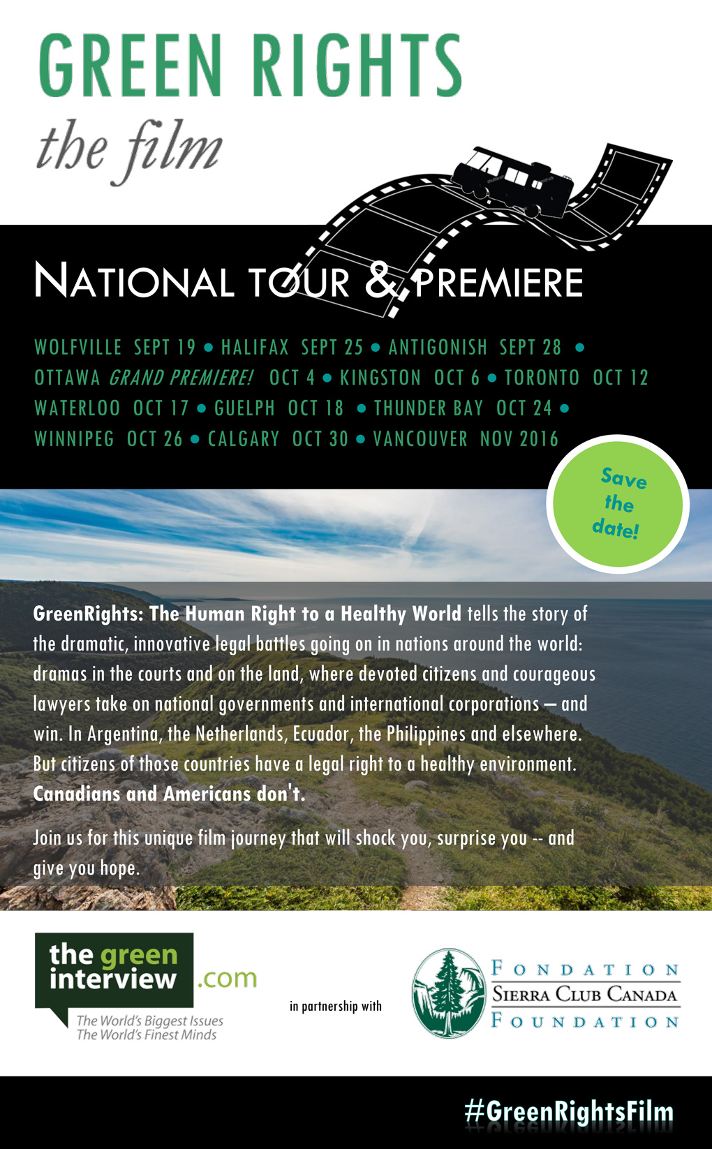 Green Rights film tour poster