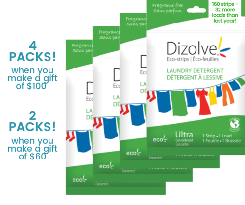 Your gift of Dizolve when you donate today.