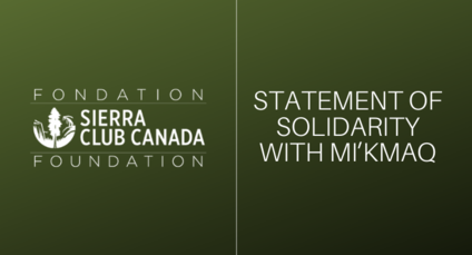 Statement of Solidarity with Mi'kmaq